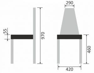 Схема размеров стула «Ромб»